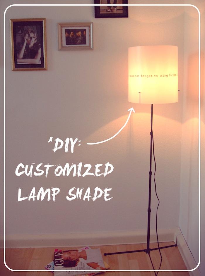 Customized Lamp Shade Diy