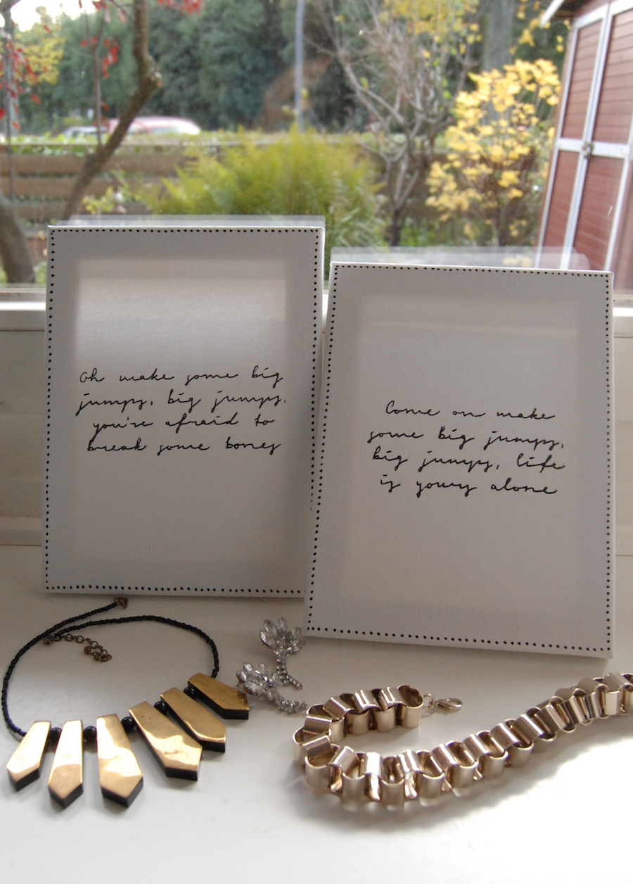 at least - // DIY: Quote Canvas