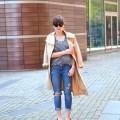 vero moda trench cos shirt hm pants mango heels