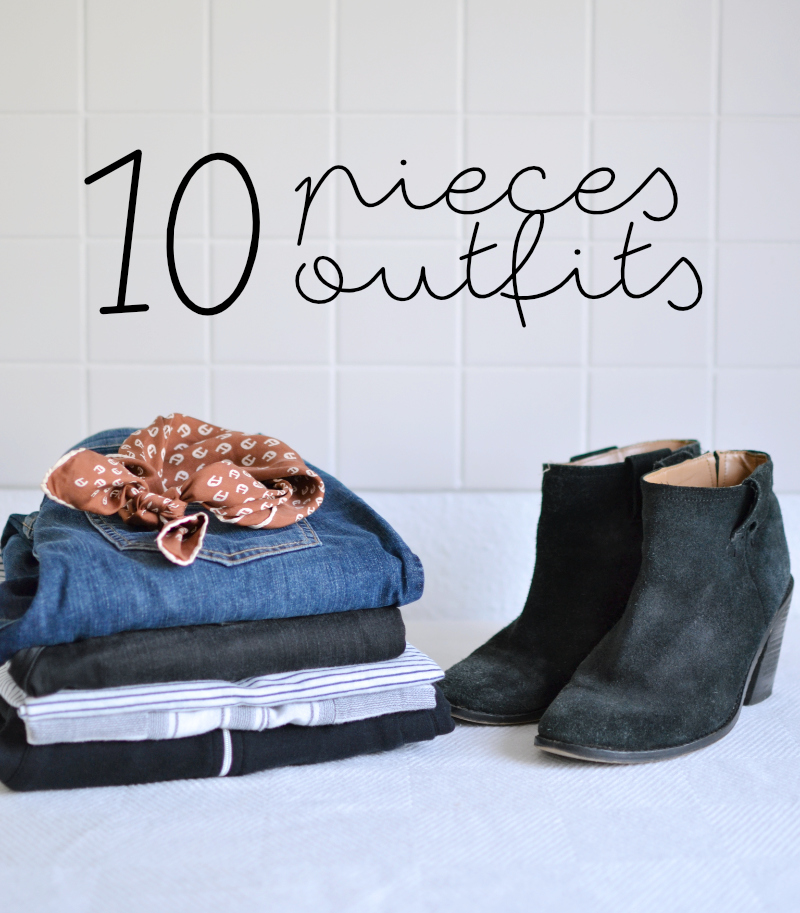 at least 10 pieces 10 outfits my capsule wardrobe experiment. Black Bedroom Furniture Sets. Home Design Ideas